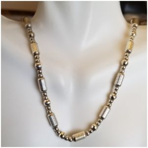 """Heavy Solid Sterling Silver Necklace 16.5"""""""